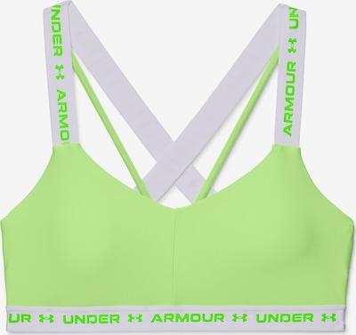 UNDER ARMOUR Sport bh in de kleur Limoen / Wit: Vooraanzicht