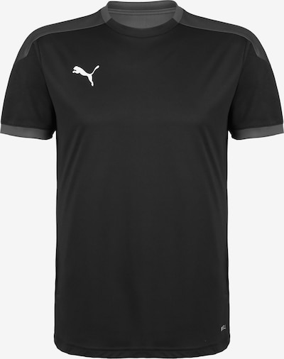 PUMA Trainingsshirt in dunkelgrau / schwarz, Produktansicht