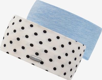 chillouts Hoofdband in de kleur Lichtblauw / Zwart / Wit, Productweergave