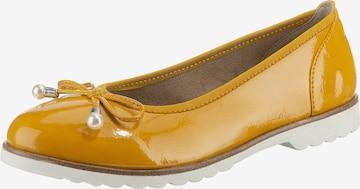JANE KLAIN Ballet Flats in Yellow