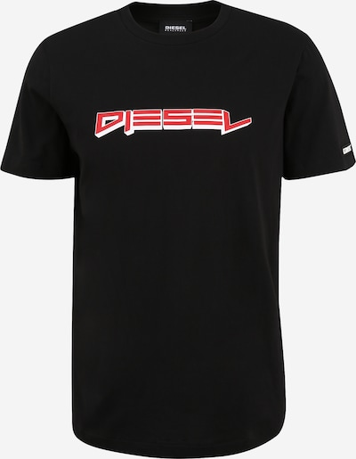 DIESEL Paita värissä punainen / musta / valkoinen, Tuotenäkymä