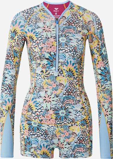 ROXY Swimsuit '1.5 MARINE BLOOM FZ LS SP QLCK' in Navy / Cobalt blue / Light blue / Yellow / Dusky pink, Item view