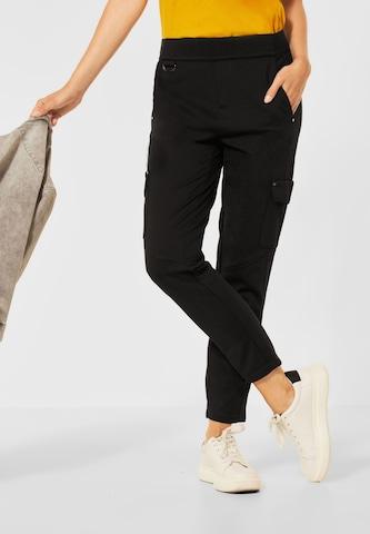 Pantaloni cu buzunare de la STREET ONE pe negru