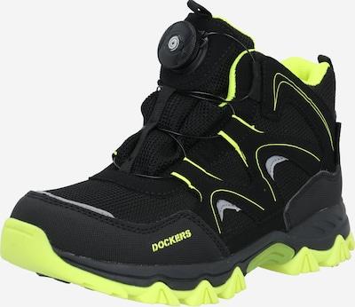 Cizme Dockers by Gerli pe galben neon / negru, Vizualizare produs