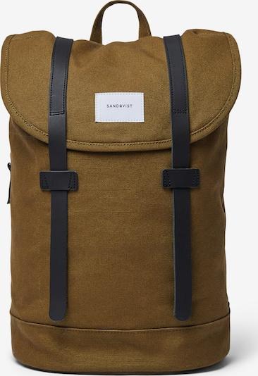SANDQVIST Rucksack 'Stig' in dunkelblau / oliv, Produktansicht
