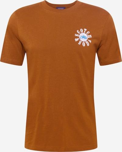 SCOTCH & SODA T-shirt i himmelsblå / karamell / vit, Produktvy