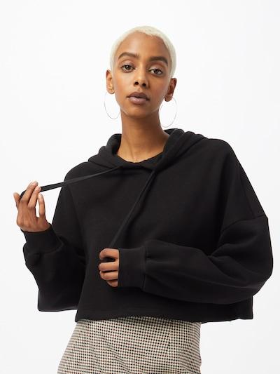 Gina Tricot Блузон с качулка в черно: Изглед отпред