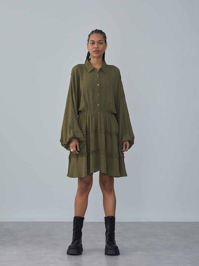 LeGer by Lena Gercke Kleid 'Fabrice' in oliv / mischfarben, Modelansicht