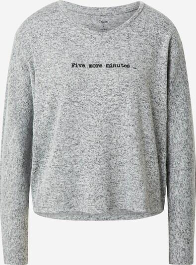 ETAM Chemise de nuit 'LAAM' en gris chiné / noir, Vue avec produit