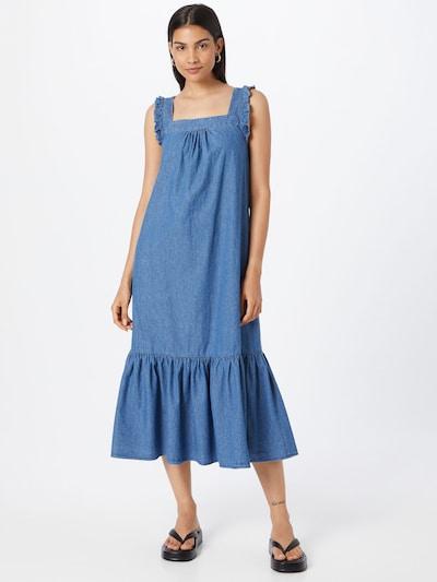Whistles Kleid 'CHAMBRAY' in blau, Modelansicht