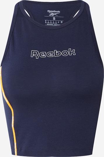 Reebok Sport Sportski top u mornarsko plava / žuta / bijela, Pregled proizvoda