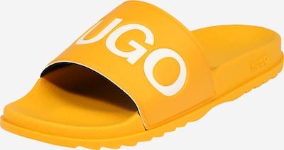 HUGO Muiltjes 'Match' in de kleur Goudgeel / Wit, Productweergave