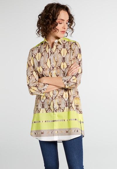 ETERNA Bluse in dunkelbeige / gelb / hellgelb / taupe, Modelansicht