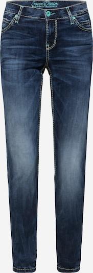 Soccx HE:DI Slim Fit Jeans mit breiten Nähten in blue denim, Produktansicht