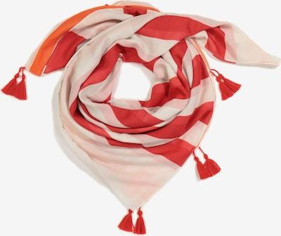 Ulla Popken Tuch in beige / rot / weiß, Produktansicht