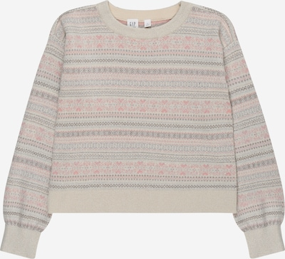 GAP Sweater in beige / dusty blue / dark brown / pink, Item view