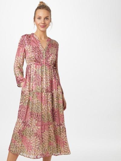 CINQUE Kleid 'CIDEAN' in pastellgelb / pink / hellrot / schwarz, Modelansicht