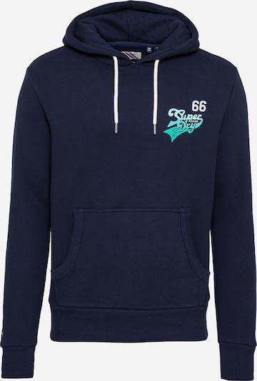 Superdry Sweatshirt in nachtblau / jade, Produktansicht