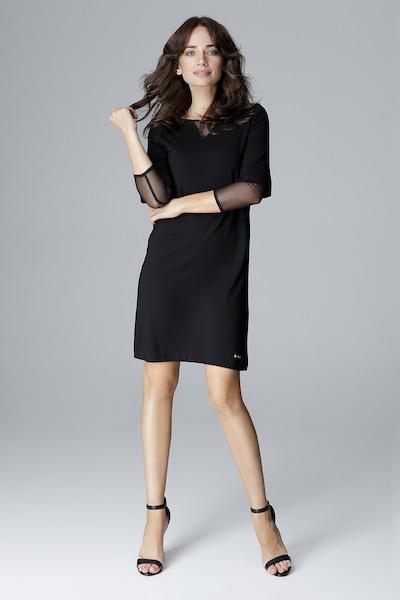 Lenitif Cocktailkleid in schwarz, Modelansicht