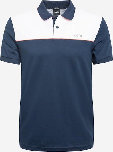 BOSS ATHLEISURE Shirt 'Paule 1' in de kleur Navy / Koraal / Wit, Productweergave