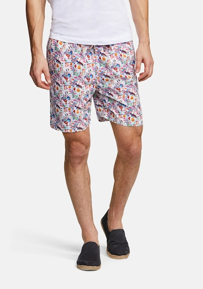 COLOURS & SONS Badeshorts Animal-Print SIMON in lila: Frontalansicht