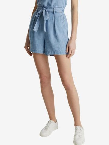 Pantaloni cu cute de la ESPRIT pe albastru