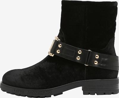 Love Moschino Stiefel in Samt-Optik in schwarz, Produktansicht