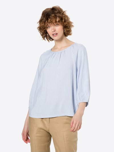 STREET ONE Bluse in hellblau / weiß, Modelansicht