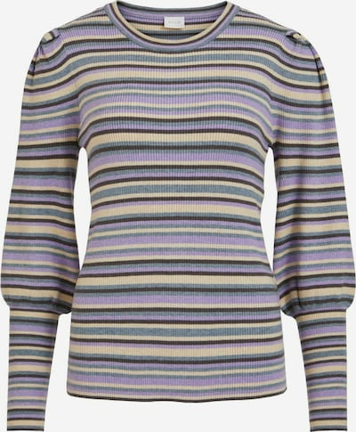 VILA Sweater 'Solal' in Pastel blue / Light yellow / Lilac / Black, Item view