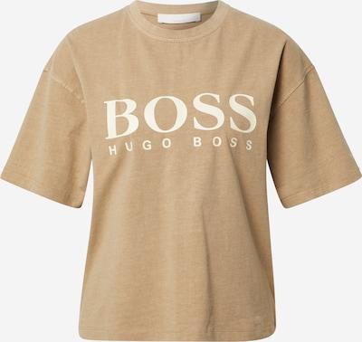 BOSS Casual Shirt 'Evina' in camel / weiß, Produktansicht