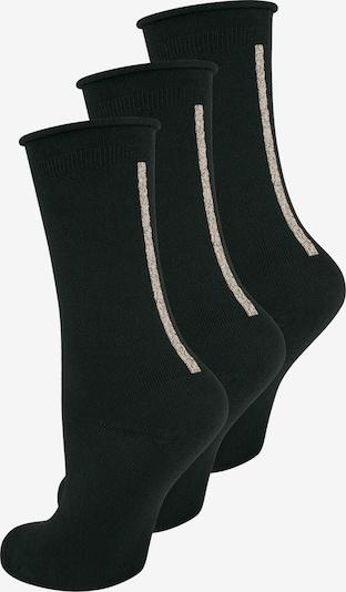 ELBEO Chaussettes ' 3-Pack Straight Elegance ' en noir, Vue avec produit