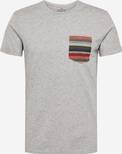BLEND Shirt in navy / hellgrau / grasgrün / koralle, Produktansicht