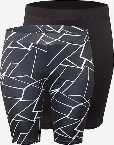 Leggings Urban Classics Curvy pe bleumarin / negru / alb, Vizualizare produs