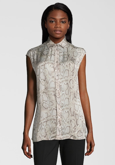REPLAY Bluse im Snake-Print in beige / mischfarben, Modelansicht