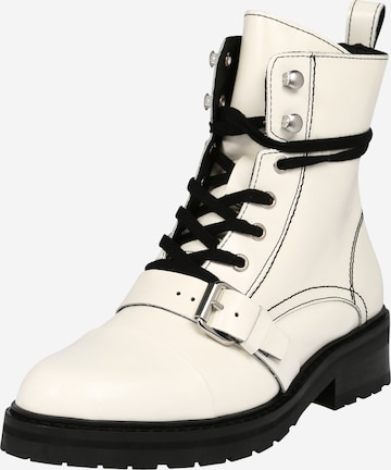 AllSaints Lace-Up Ankle Boots 'DONITA' in White
