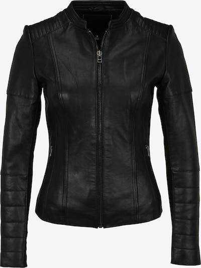 Goosecraft Lederjacke mit Stehkragen in schwarz, Produktansicht
