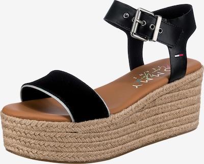 Sandale cu baretă Tommy Jeans pe bej / negru, Vizualizare produs