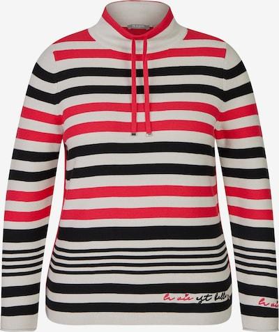 Rabe Pullover in koralle / schwarz / weiß, Produktansicht