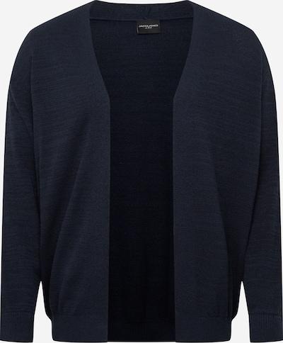 Jack & Jones Plus Strickjacke 'BLASONIC' in nachtblau, Produktansicht