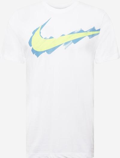 NIKE Функционална тениска в опушено синьо / светложълто / бяло, Преглед на продукта