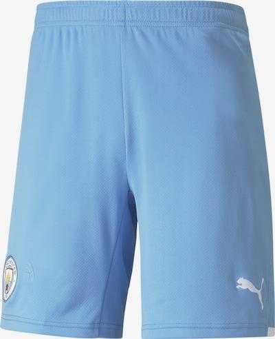 PUMA Fußballshorts in hellblau / weiß, Produktansicht