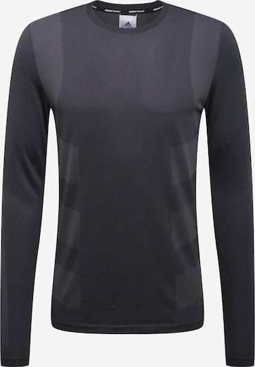 ADIDAS PERFORMANCE T-Shirt fonctionnel en gris / gris foncé, Vue avec produit