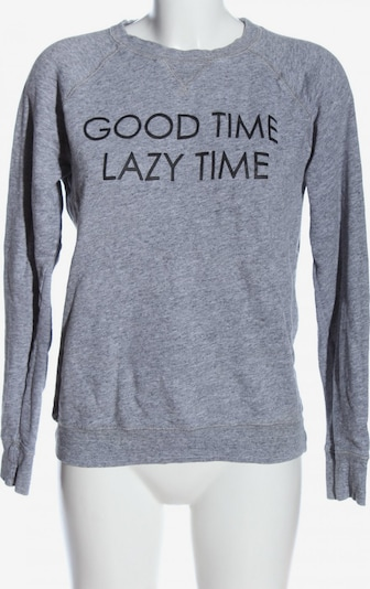 H&M Sweatshirt in S in hellgrau / schwarz, Produktansicht