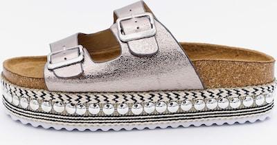 Kamoa Modische Pantolette ergonomisch geformten Fußbett in hellgrau, Produktansicht
