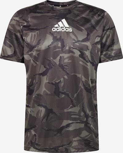 ADIDAS PERFORMANCE Sporta krekls, krāsa - pelēks / melns / balts, Preces skats