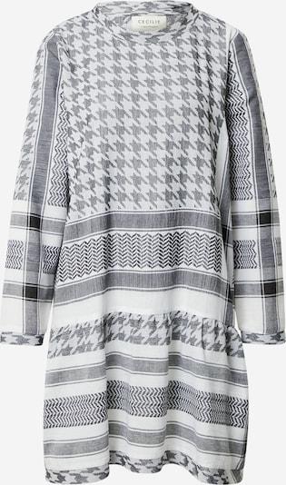 Cecilie Copenhagen Kleid in grau / schwarz / weiß, Produktansicht