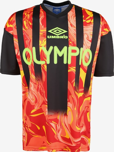 UMBRO Functioneel shirt in de kleur Rood / Zwart, Productweergave