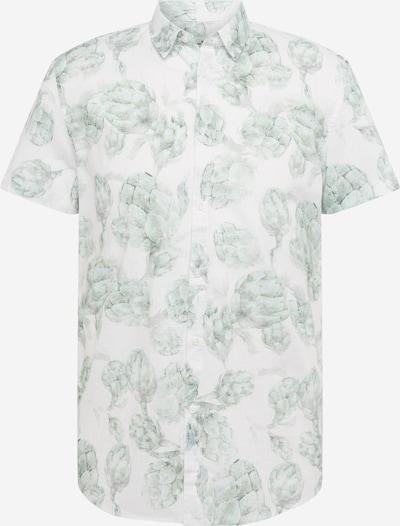 TOM TAILOR DENIM Hemd in grau / mint / weiß, Produktansicht