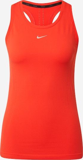 Sport top NIKE pe gri argintiu / roșu orange, Vizualizare produs