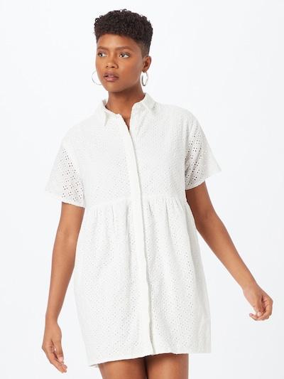 Rochie tip bluză Missguided pe alb murdar, Vizualizare model